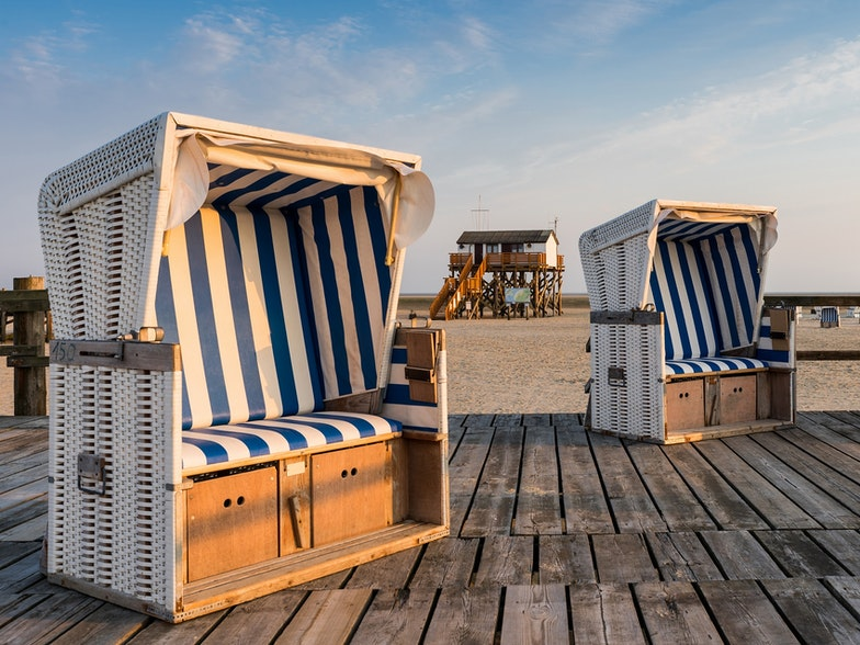 Nationaltourismus Strandkörbe Nordfriesland