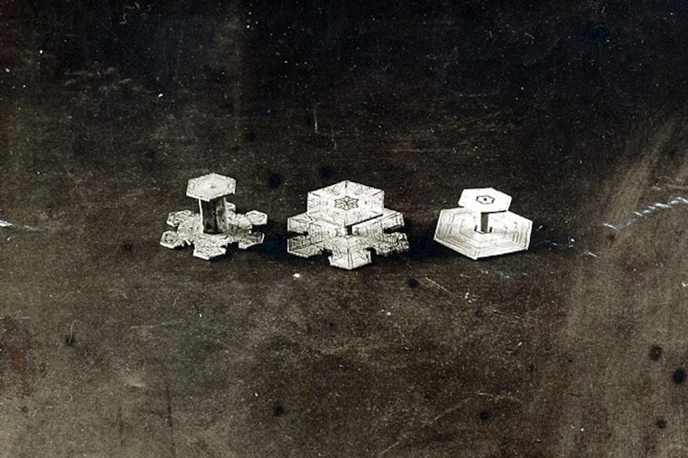 Vermutlich ist jedes Schneekristall einzigartig, doch 121 Grundformen hat die Schneeflocken-Forschung bis heute identifiziert.