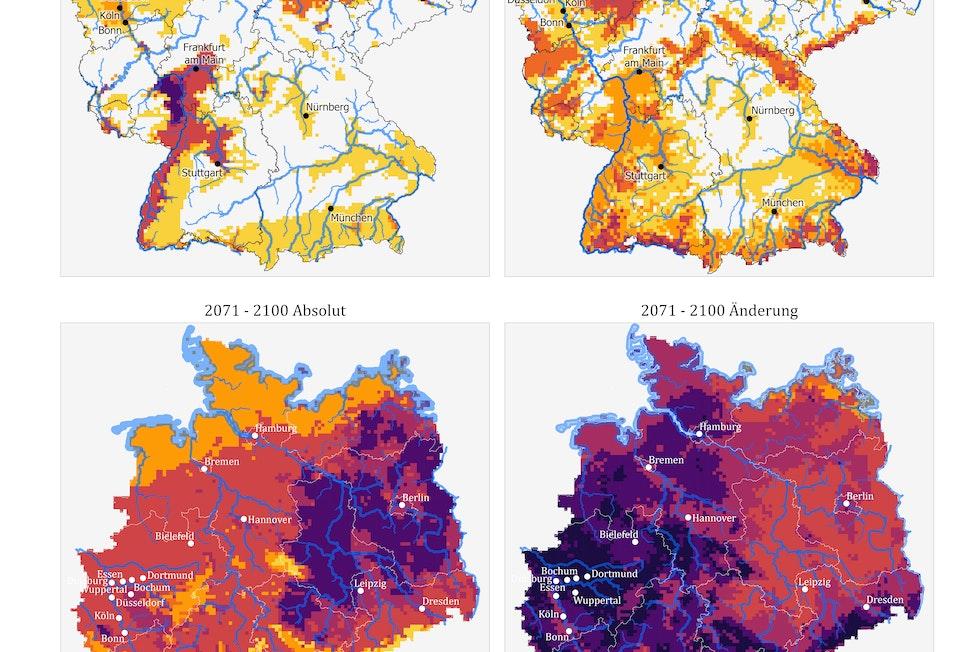 Summary report available here: https://www.umweltbundesamt.de/publikationen/KWRA-Zusammenfassung